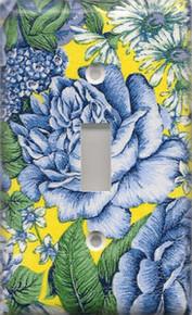 Blue & Yellow Flowers - Single Switch