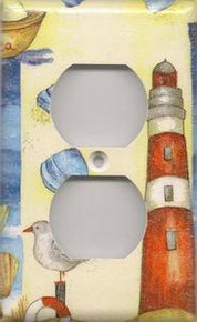 Red Lighthouse with Shells - Outlet