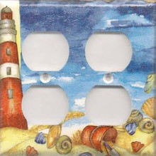 Red Lighthouse with Shells - Double Combo Outlet