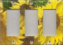 Sunflowers - Triple GFI/Rocker