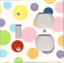 Polka Dots - Double Combo Switch & Outlet