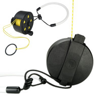 A P Valves Buddy Pocket Ratcheted Reel with 45m of Floating Line & Lanyard