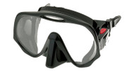 Atomic Aquatics Frameless Single Lens Scuba Diving Mask in Black Silicone.