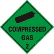 Beaver Compressed Gas Magnetic Vehicle Sticker.