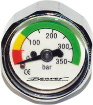 First Stage Button Pressure Gauge
