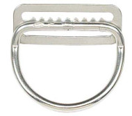 "Dive Rite 2"" D-Ring Bent Stainless Steel on Belt Slide."
