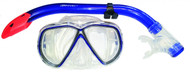 Beaver Coral Silicone Mask & Snorkel Set in Blue