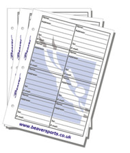 Beaver Log Book / Dive Folder Inserts- Address
