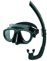 Mares Tana Black Silicone Mask & Snorkel Set.