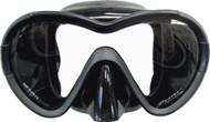 Challenge Aluminium Frame Mask in Black Silicone