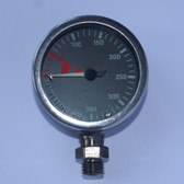 Black Faced Tech Pressure Gauge Large