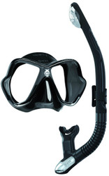 Mares X Vision Ultra Liquidskin Ergo Dry Mask & Snorkel Set. All Black