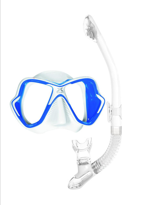 White/Blue Trim White Snorkel