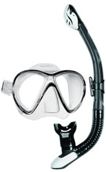 Mares X-VU Liquidskin Mask Ergo Dry Snorkel Set in Black & White