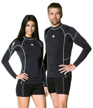 Waterproof Mens Long Sleeve Rash Guard. Size Choice