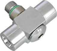 "Beaver 3/8"" UNF 90° Low Pressure Double Hose Adaptor"