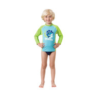 Mares Kids (Age 2 - 7) Blue Long Sleeved Rash Guard - Size choice