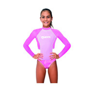 Mares Junior (Age 8 - 13) Pink Long Sleeved Rash Guard - Size choice