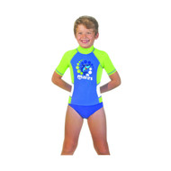 Mares Kids (Age 2 - 7) Blue Short Sleeved Rash Guard - Size choice