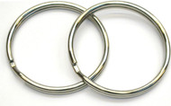 Beaver - Pair Of Large 38mm Diameter Stainless Split Rings