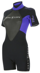 Aqua Lung Womens Mahe 3mm Shorty Wetsuit - Size Choice
