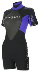 Aqua Lung Womens Mahe 3mm Shorty Wetsuit - Size Choice