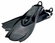 Hollis F1 Black Bat Fins - Size Choice