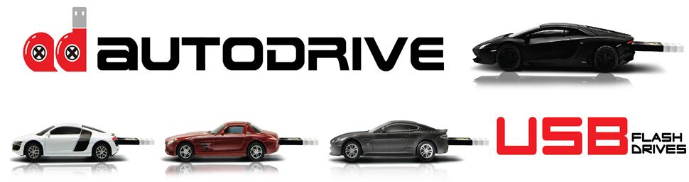 Autodrive iconic car shaped USB memory sticks