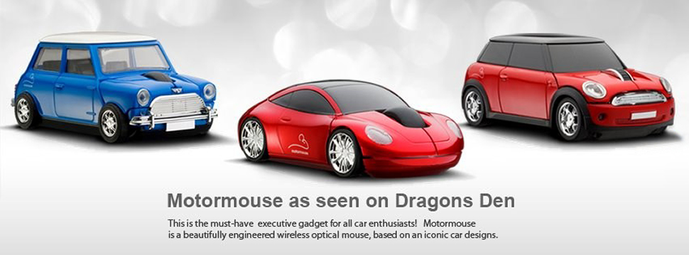 Motormouse iconic car mouse - as seen on Dragons Den