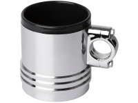 Wrenchware Car Engine Piston Mug - chrome effect drinking cup