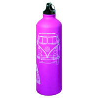 Official VW Camper Van Aluminium Drinks Water Bottle - Pink