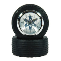 F1 Racing Car Tyre + Wheel Desk Clock in gift box