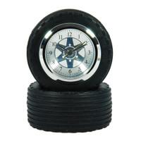 F1 Racing Car Tyre + Wheel Desk Clock in gift box