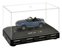 Official BMW Z4 Car 4-Port USB Computer Hub - Blue