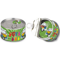 Official VW Camper Van Clock in gift tin can - 'Love Bus' design