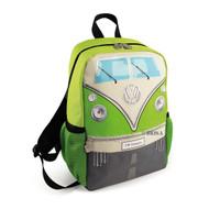 Official VW Camper Van Kids School Backpack Bag - Green