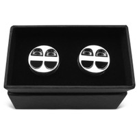 Car Engine Piston Chrome Metal Cufflinks in gift box
