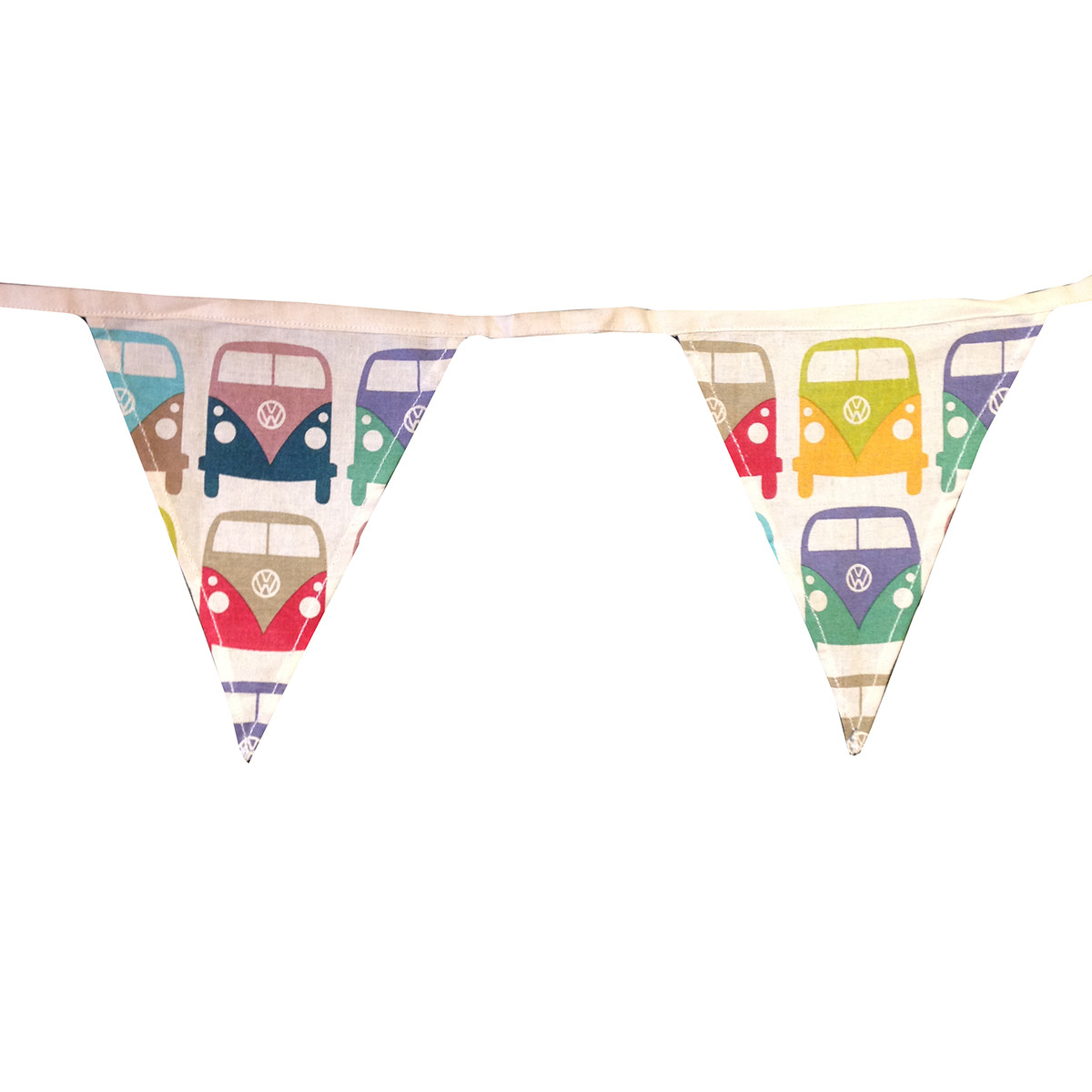 Official VW Camper Van Cotton Fabric Bunting Montage