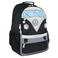Official VW T1 Camper Van Large Rucksack Backpack Bag - Black