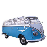 Official VW Camper Van Large Wall Clock - Blue