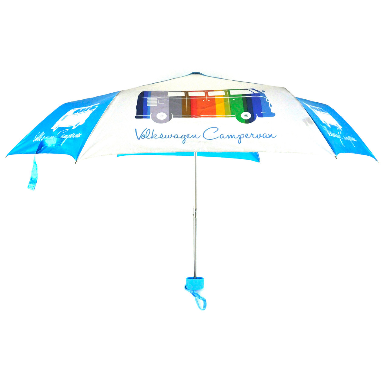 63eefbfc600 Official VW Camper Van Folding Travel Umbrella - Multi-Coloured Campervan -  Auto Regalia