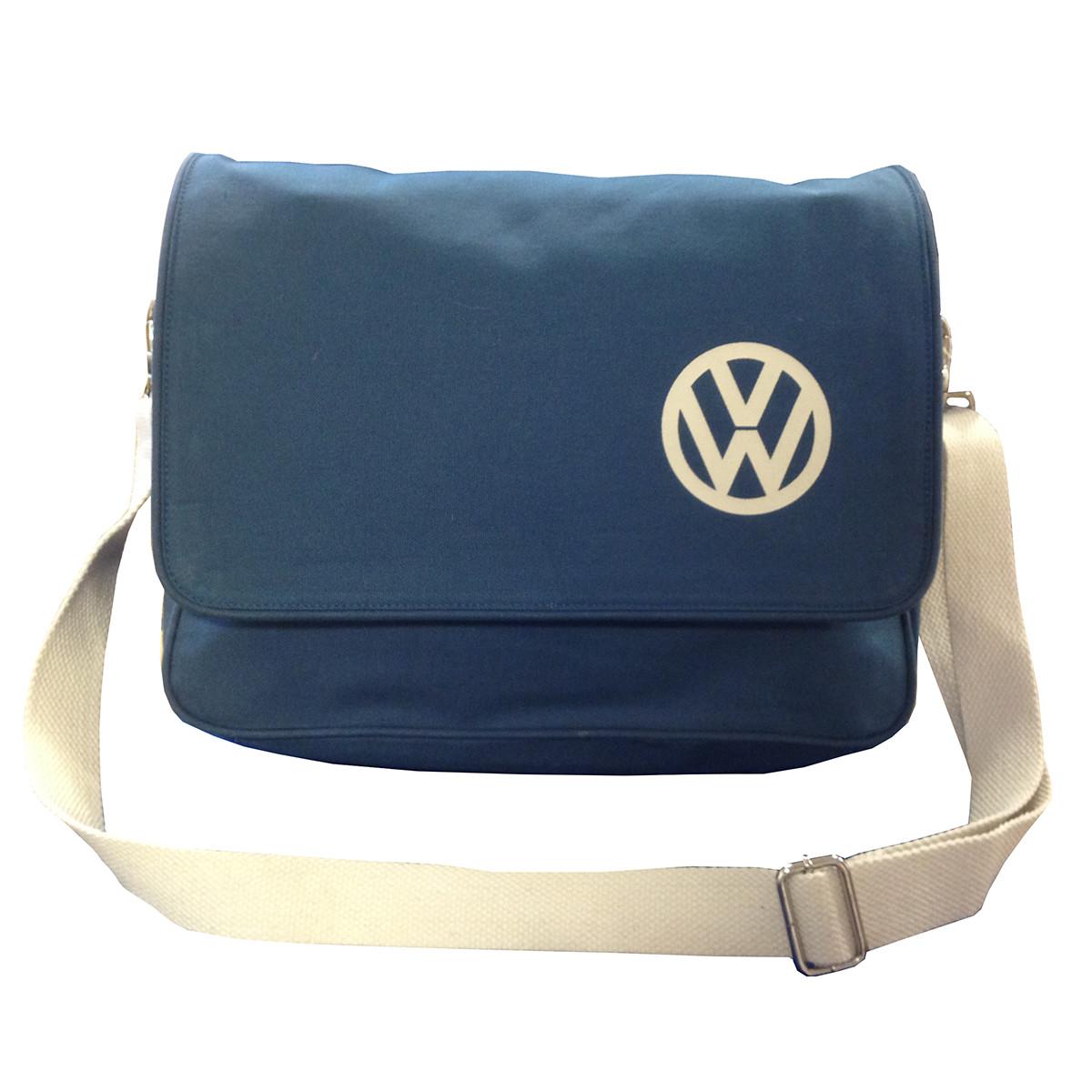 e26c3998ac02 Official VW Canvas Messenger Shoulder Bag - Blue