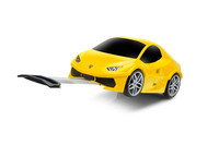 Official Lamborghini Huracan Car Kids Pull-Along Case / Travel Suitcase - Yellow