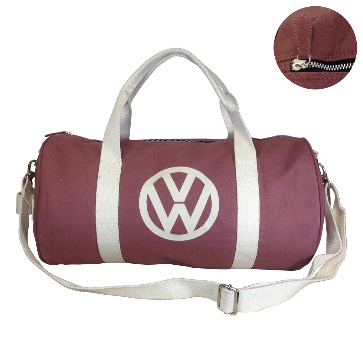1f7ba1acc1f5d Official VW Canvas Holdall Sports Gym Bag - Red - Auto Regalia