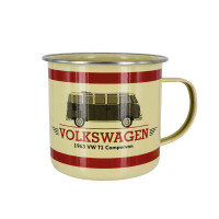 Official VW Camper Van Enamel Tin Mug - Classic T1 Bus