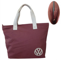 Official VW Canvas Ladies Shopping Tote Bag - Red
