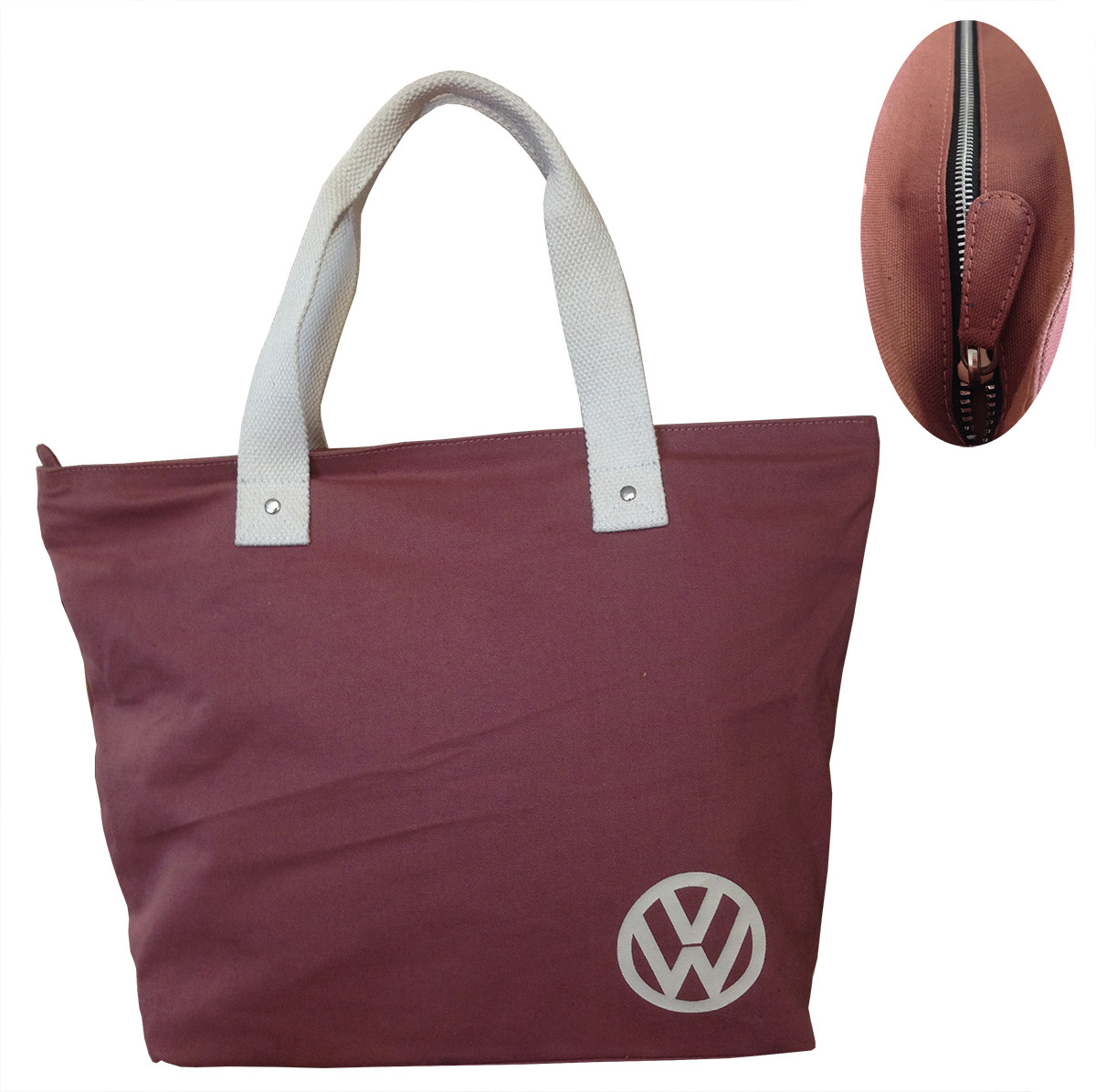 a4a40af3eaa0b Official VW Canvas Ladies Shopping Tote Bag - Red - Auto Regalia