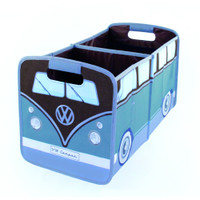 Official VW Camper Van Foldable Storage Box / Car Boot Organiser - Blue