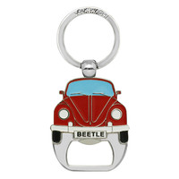 Official Classic VW Beetle Car Metal Bottle Opener + Keyring - Red