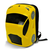 Official Lamborghini Sports Car Kids School Rucksack Backpack Bag - Yellow